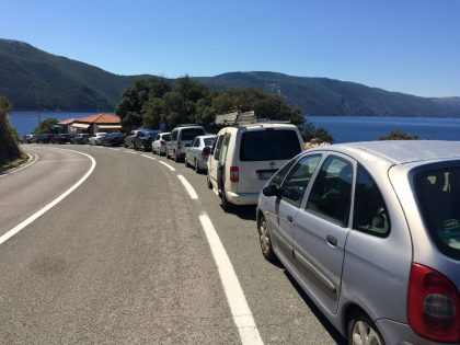 Traffic jam in the high season