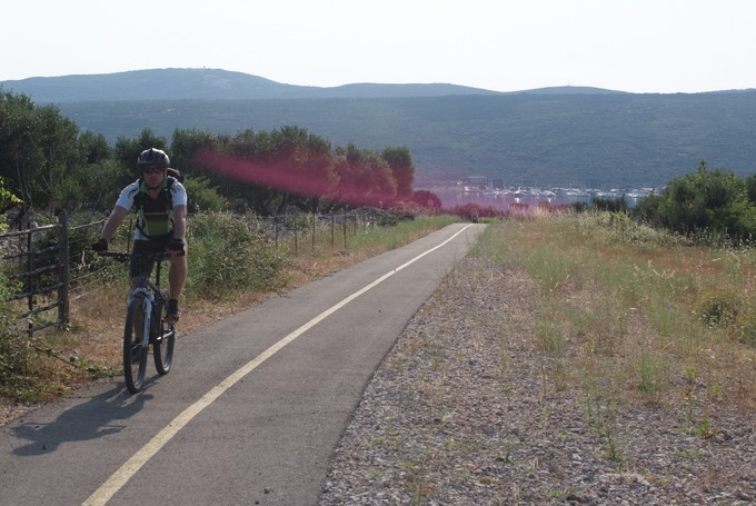 Cycling path form Punat to Krk